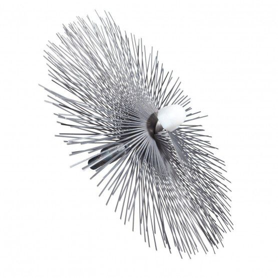 "Threaded brush 6"" Ø, steel"