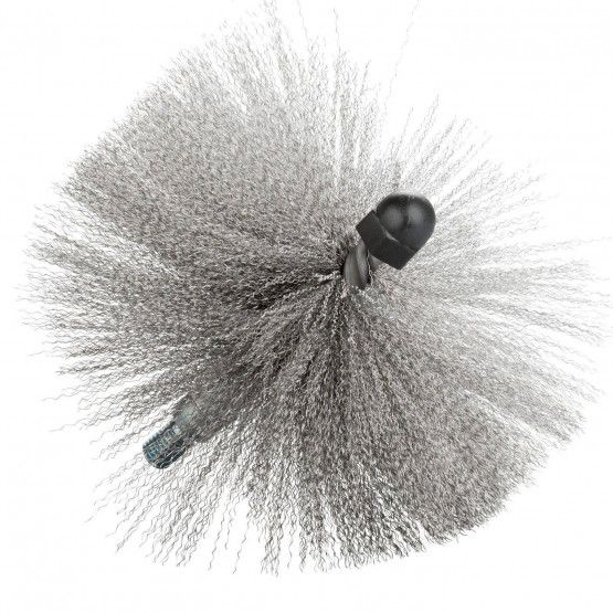 Threaded Brush, Stainless Steel, Crimped