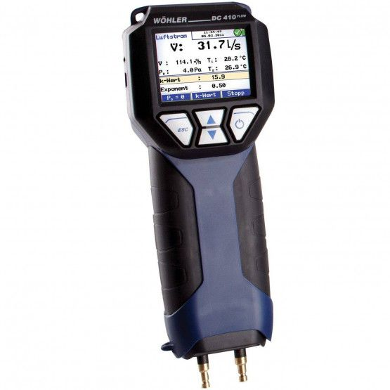 Wohler DC 410FLOW Pressure Differential & Flow meter